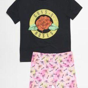 Girls Guns and Roses Pajama Sleep set size XS 6